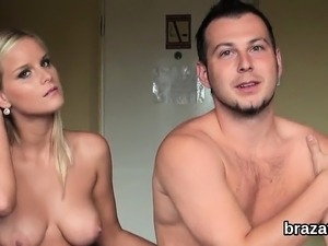 Casting beauty goes home after hardcore sex and anal hole na
