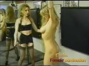 Really hot blonde learns that only the mistress calls