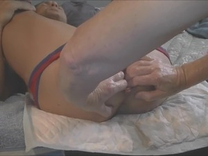 fisting my wife pussy