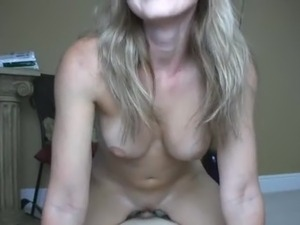 Hot Blonde Rides On Top For A Creampie