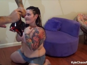Pierced and Tattooed BBW Mind Control BJ - Behind the Scenes
