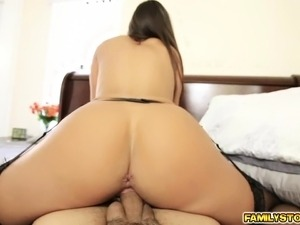 Tomi Taylor rides her step dads cock on top