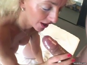 Big titted blonde mom with hairy pussy gets banged hard Grannies, Hairy,...