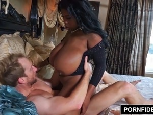 PORNFIDELITY Maserati's Big Natural Black Boobs Worshiped