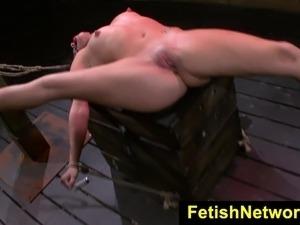 FetishNetwork Stella May bondage orgasm