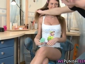 Anal fucked teen squirts