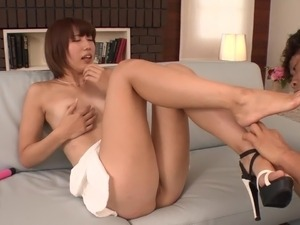 Uncensored leggy Japanese Seira Matsuoka stripped for oral