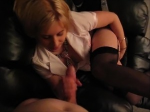 Hotel Blonde Stocking Cunt Fuck