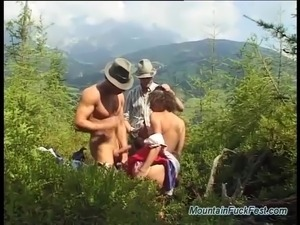extreme german mountain fuck orgy