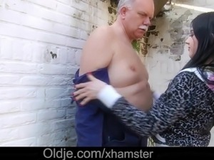 Naughty young maids old cock footjob and 69 fuck