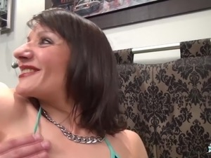 LaCochonne - Mature French amateur enjoys ass fisting