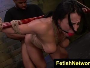 FetishNetwork Becca Diamond rope bondage