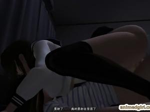 Japanese 3D futanari schoolgirl