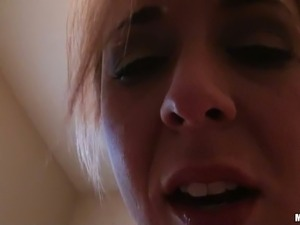 Buxom blond housewife Jewel Jensen sucks her dude off and then rides his dick...