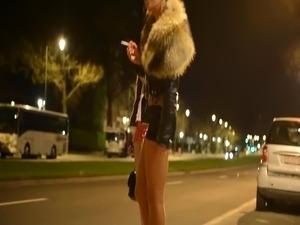 Two hot smoking street girls