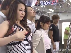 Fantastic Asian Brunettes Share A Big Dick In A Public Bus