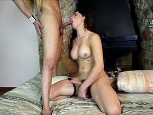 Latina shemale and her best friend having a doggy style adventure
