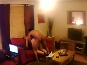 wife in heels and pantyhose gets doggy fuck style