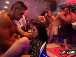 Flirty girls get absolutely insane and stripped at hardcore
