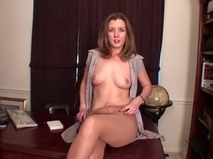 Horny milf in stockings is re for hard fucking