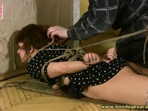 Sensual young brunette wants to have some exciting bondage fun