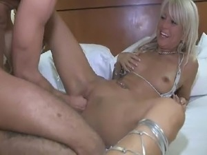 Fistfucked milf on the bed
