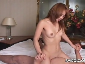 Very hot Asian babe getting fucked missionary style