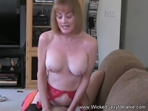 MILF Riding Cock On The Couch
