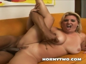 Squirting on Big Black Cock by Real MILF beauty with hot