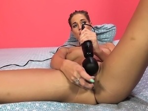Sultry babe Val Dodds enjoys a frenzy of sex toys and intense orgasms