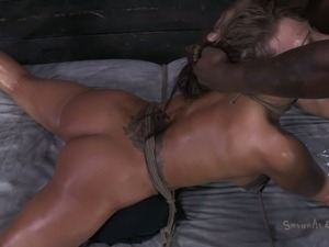 Dirty and sultry cougar in rough all hole access BDSM fuck