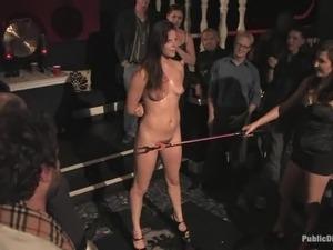 Bondage and anal penetration for sexy sex slave Bobbi Star