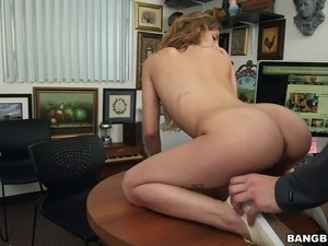 Her job interview ends with a fat cock deep inside her