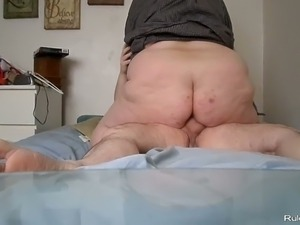 Fat couple having hardcore sex