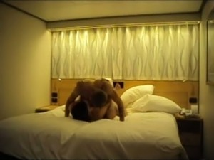 Fucking sexy housewife in a doggy position in a hotel
