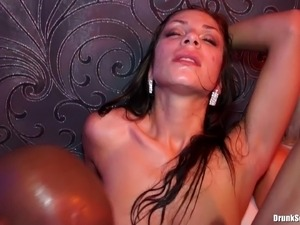 Here is your chance to wank as these drunk bitches get involved in an orgy scene