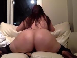 Amateur bbw milf huge ass riding dildo