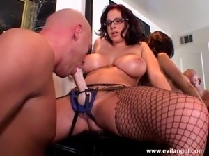 Fuck me with strap on after sucking my beefy cock