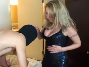 Mistress slave suck and facial