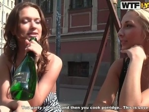 Hot sex-starved Russian nymphos want to have some fun