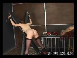 A lady with a fair ass enjoying a fetish session with her lover