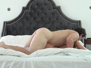 Bosomy,tattooed and round ass blonde gets her asshole thrilled nicely in this...