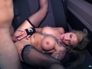 Bums Bus - German blondie gets fucked real hard in the bus