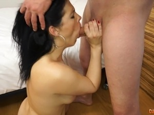 Curvy and slutty babe picked up for a great hardcore fucking