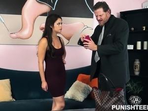 Cheating brunette girlfriend brings her bondage fetish fantasy to life