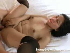 Pretty Asian Brunette With Small Tits Having Sex With Horny Guy