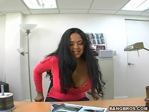 Hot Office Sex With The Sexy Latina Isabella In POV Clip