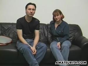 Amateur couple doing it for a casting