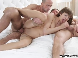 X-Sensual - Surprise threesome with anal