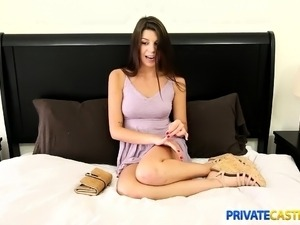 Private Casting-X - Shy cutie takes a mouthful